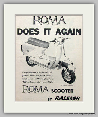 Roma Scooter by Raleigh 1962 Original Advert (ref AD6825)