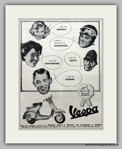 Vespa 125cc 1958 Original Advert (ref AD6814)