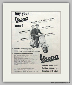 Vespa British Built 1957 Original Advert (ref AD6815)