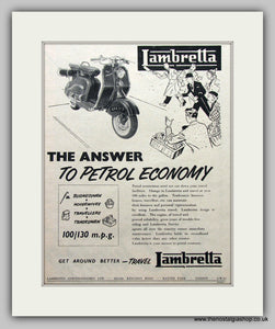 Lambretta Scooters  Vintage Advert 1963 (ref AD6792)