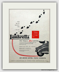 Lambretta LD 125 Scooter Original Advert 1957 (ref AD6798)