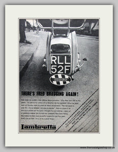Lambretta Scooter Discs Original Advert 1968 (ref AD6803)