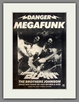 The Brothers Johnson, Blam. Original Advert 1978 (ref AD11711)