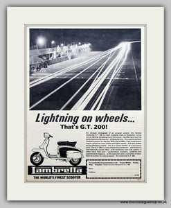 Lambretta Scooter G.T.200 Original Advert 1964 (ref AD6804)