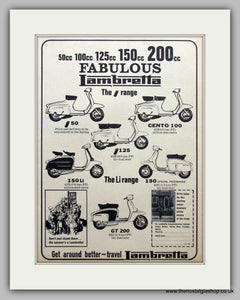 Lambretta Scooter Range.  Original Advert 1965 (ref AD6805)