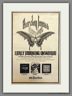 Barclay James Harvest, Early Morning Onwards. Original Advert 1972 (ref AD11713)