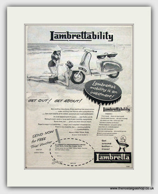 Lambretta Scooter  Original Advert 1960 (ref AD6806)