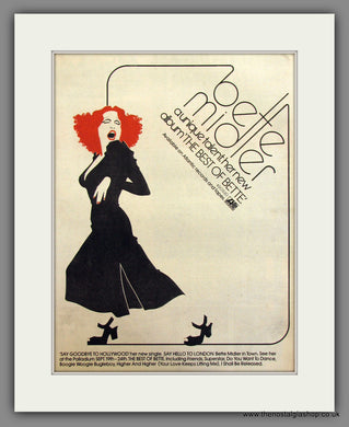 Bette Midler, The Best Of Bette. Original Advert 1978 (ref AD11715)