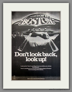 Boston, Don't Look Back, Look up. Original Advert 1978 (ref AD11717)