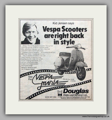 Vespa Scooters Back in Style. 1980 Vintage Advert (ref AD6844)