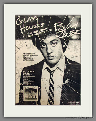 Billy Joel, Glass Houses. Original Advert 1980 (ref AD11718)