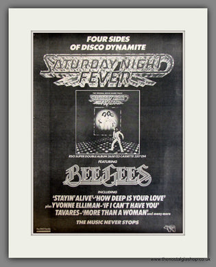 Bee Gees, Saturday Night Fever. Original Advert 1978 (ref AD11720)