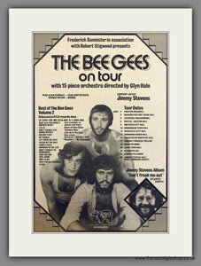 Bee Gees, On Tour. Original Advert 1973 (ref AD11721)