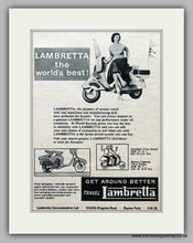 Load image into Gallery viewer, Lambretta Scooters Set of 3 Vintage Adverts 1954,55,56 (ref AD6846)