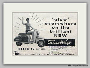 Sunwasp Scooter  1960 Original advert (ref AD6836)