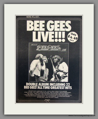 Bee Gees Live. Original Advert 1977 (ref AD11723)