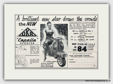 DKR Capella Scooter  1960 Original advert (ref AD6838)