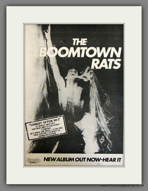 Boomtown Rats Looking After No 1. Original Advert 1977 (ref AD11726)