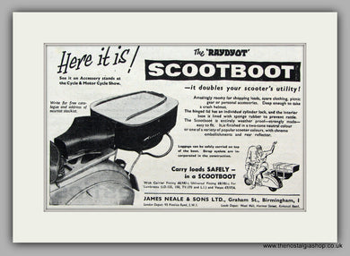 Raydyot Scootboot, 1958 Original Advert (ref AD6847)