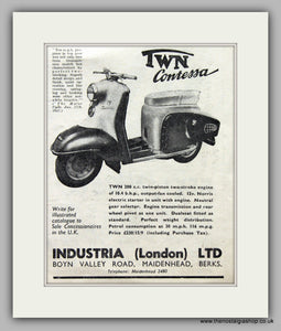 Twn Contessa Scooter 1957 Original advert (ref AD6841)