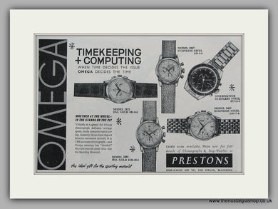 Omega  Watches. Original Advert 1963 (ref AD6832)
