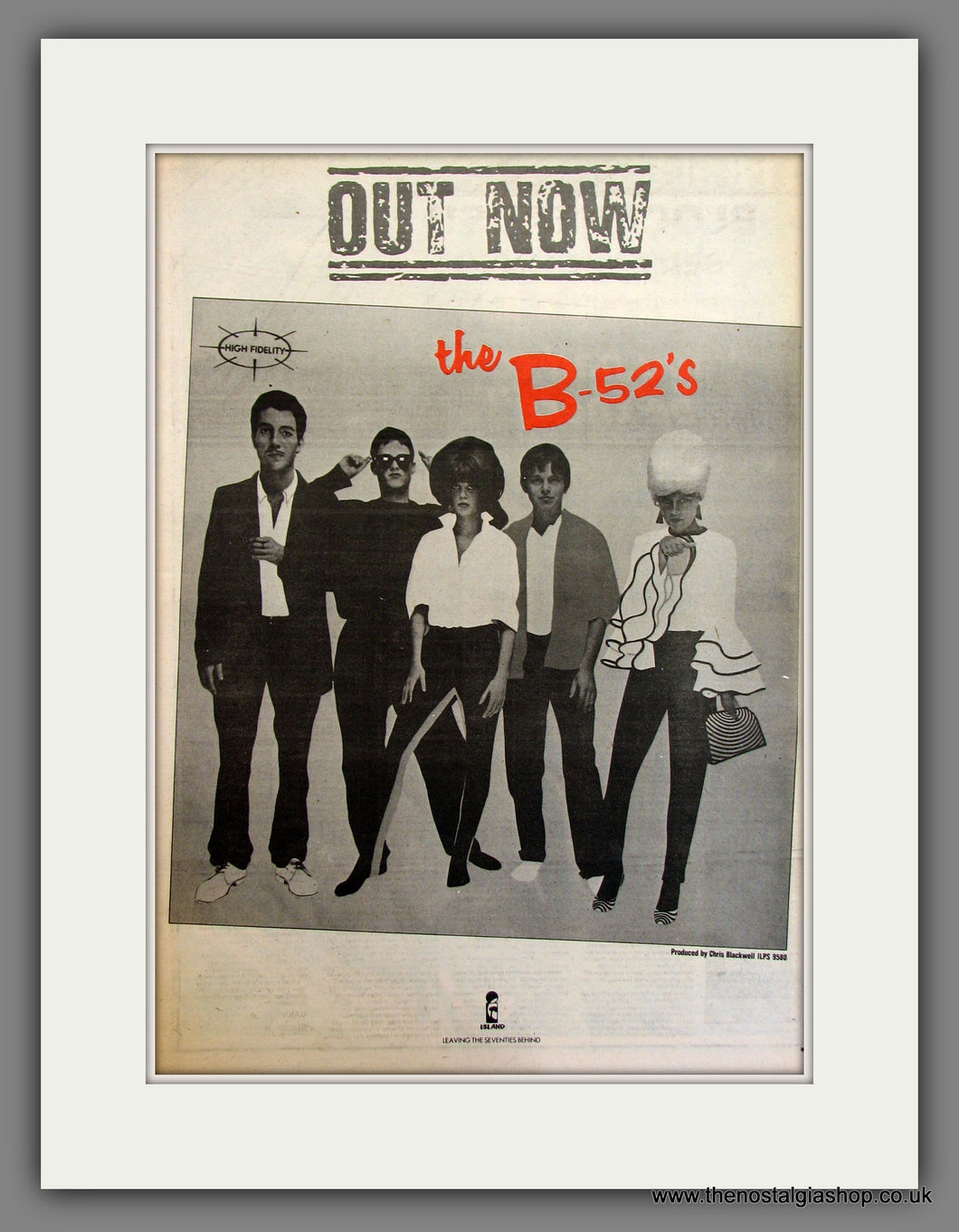 The B-52's. Original Advert 1979 (ref AD11745)
