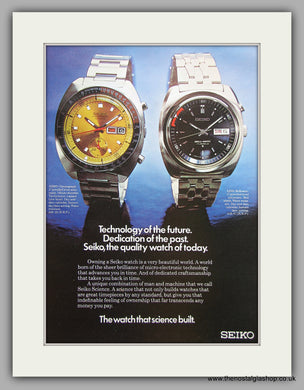 Seiko Chronograph and Bellmatic Watches. Original Advert 1973 (ref AD6861)