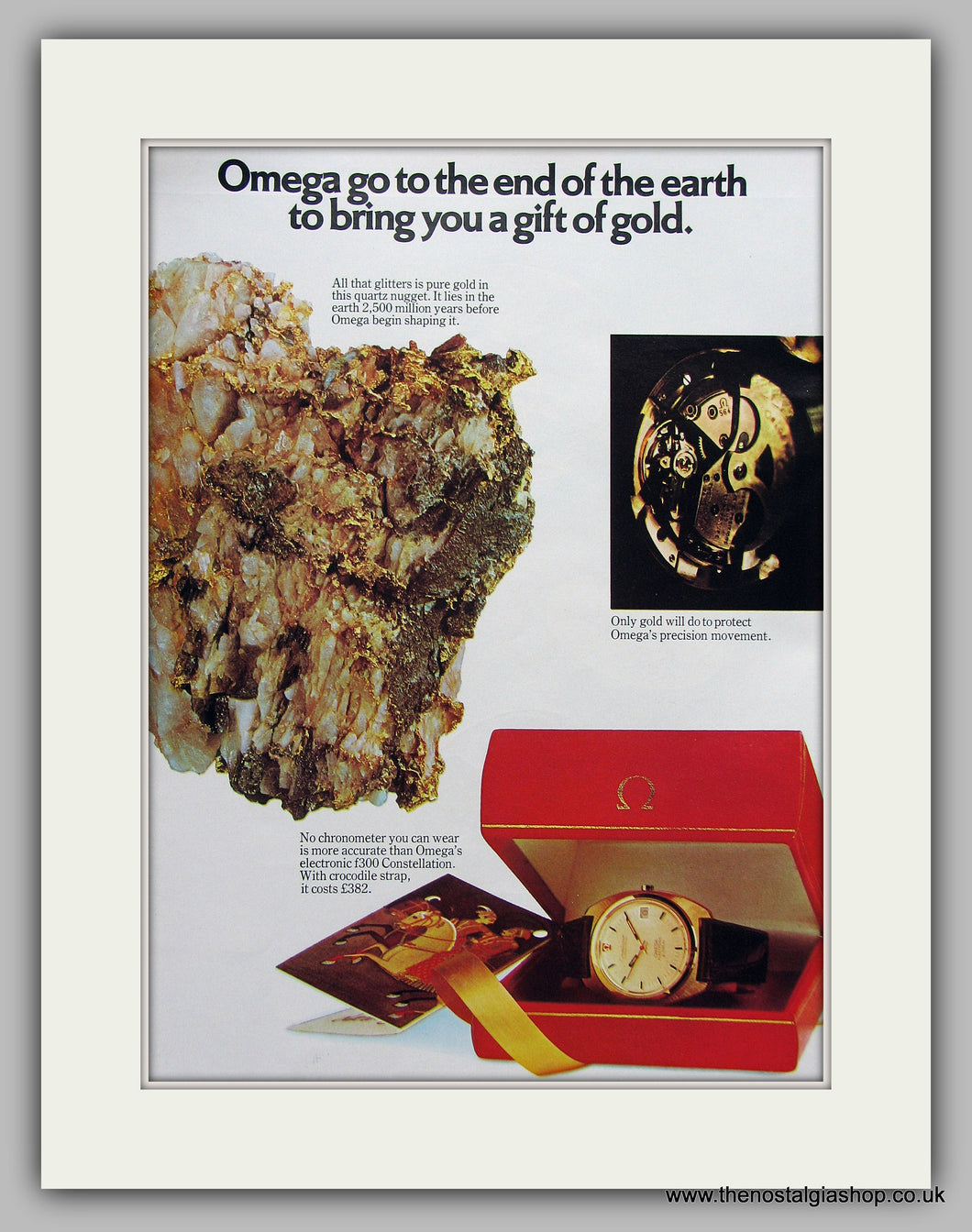 Omega Watches. Original Advert 1973 (ref AD6865)