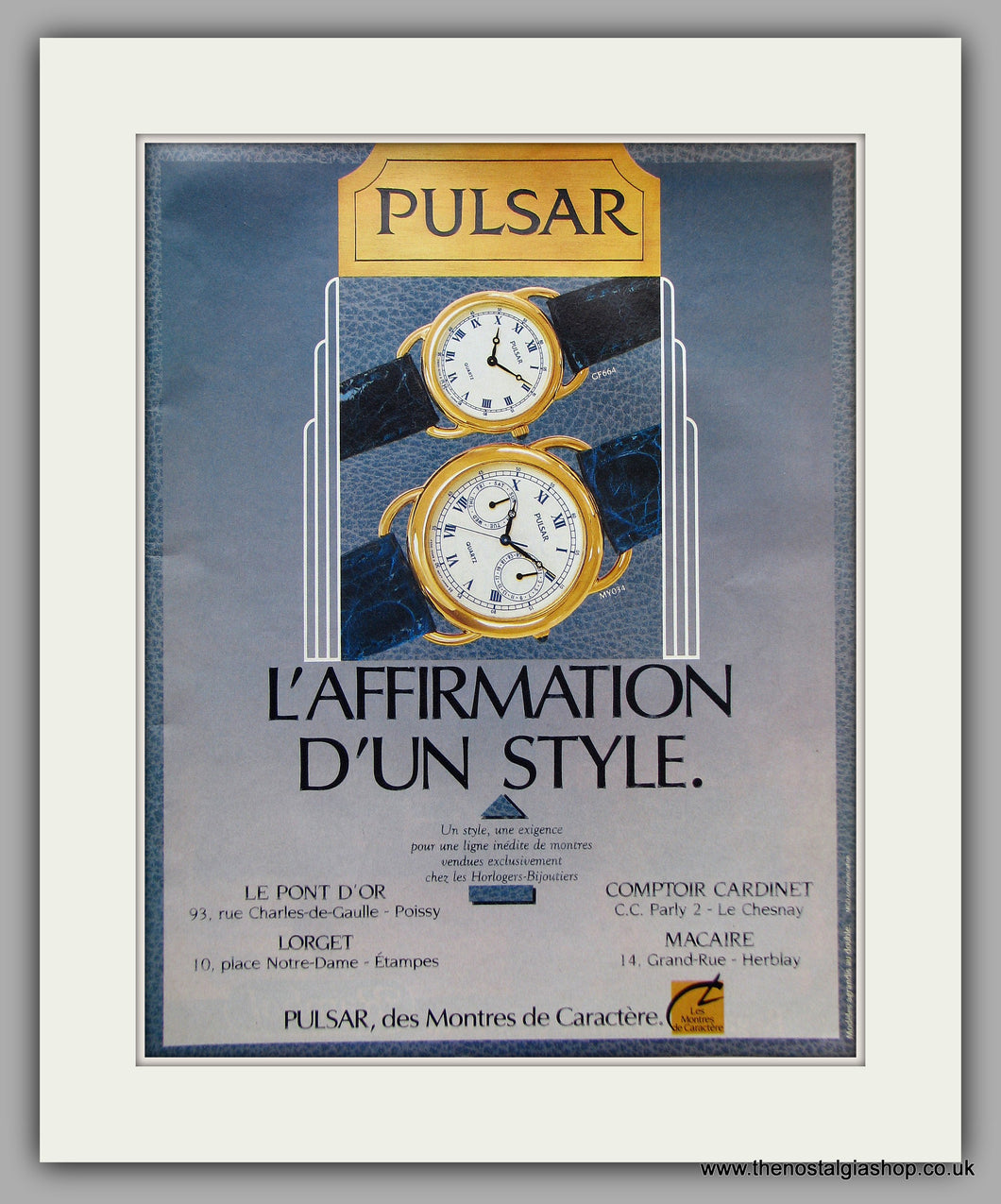 Pulsar Watches. French Original Advert 1988 (ref AD6866)