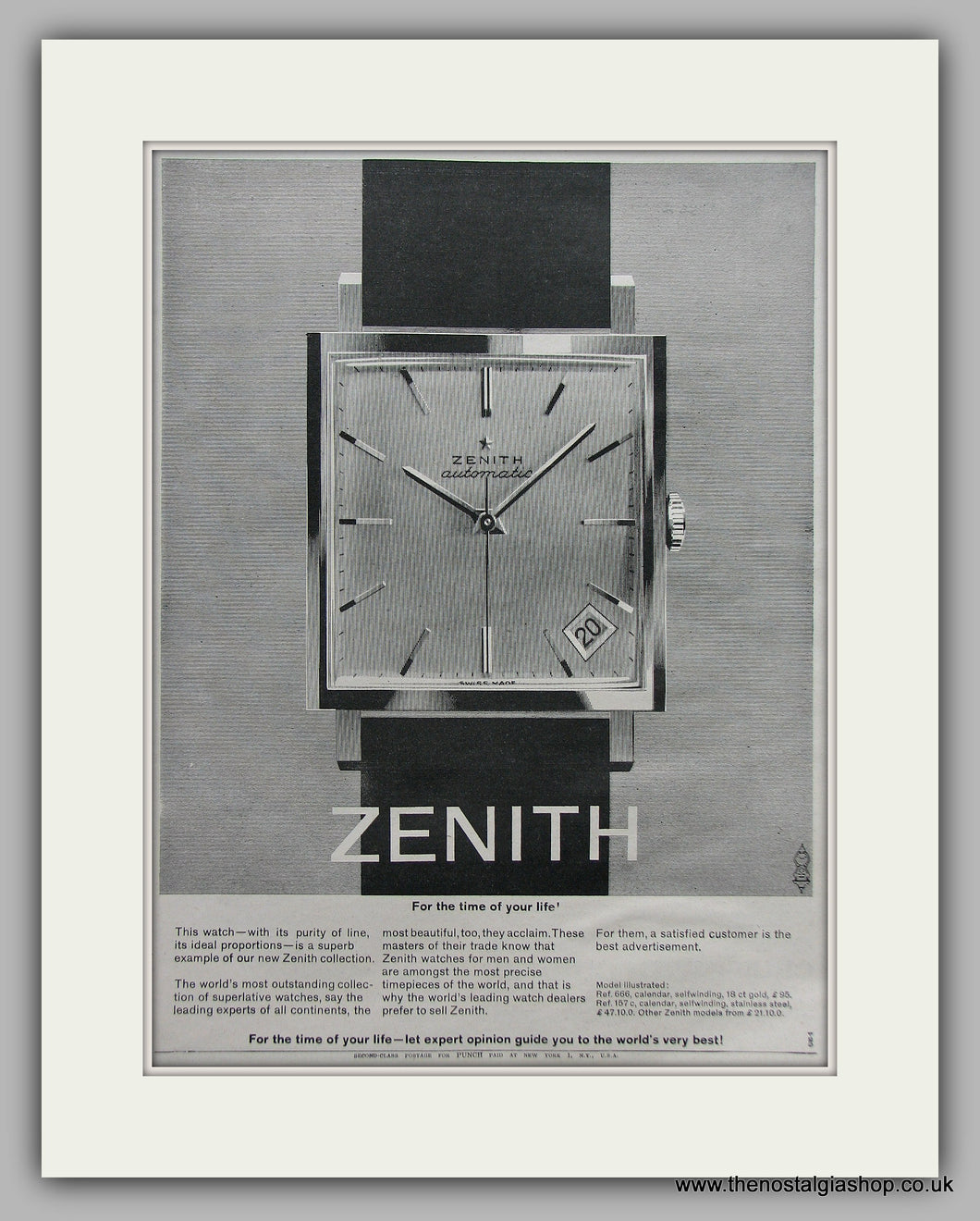 Zenith Watches Original Advert 1964 (ref AD6867)
