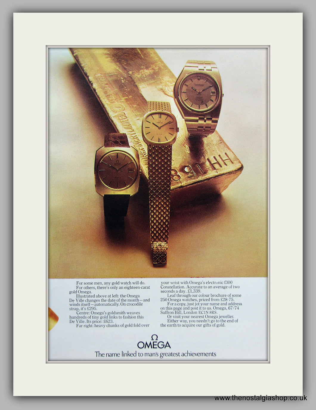 Omega Watches Original Advert 1973 (ref AD6868)