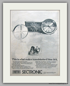 Smiths Sectronic Clocks. Original Advert 1969 (ref AD6870)