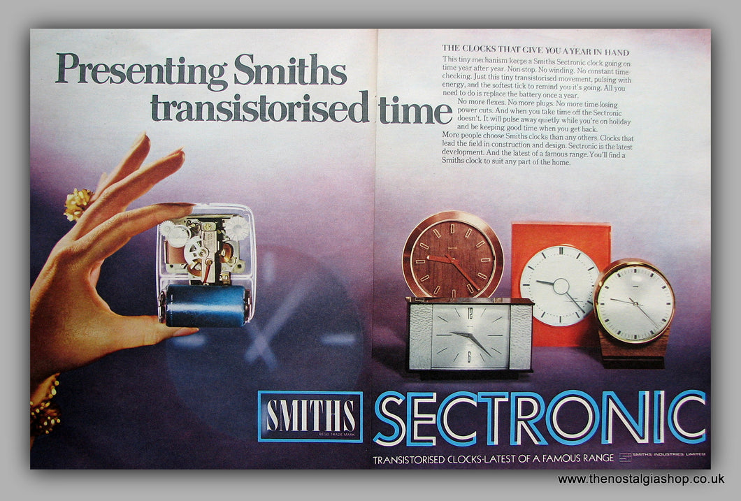 Smiths Sectronic Clocks.  Original Advert 1969 (ref AD6872)