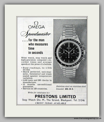 Omega Speedmaster  Watch. Original Advert 1963 (ref AD6861)
