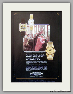 Vacheron Constantin Watch Original Advert 1980 (ref AD6916)