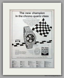 Heuer Formula 2000 Chronograph Watch Original Advert 1984 (ref AD6917)