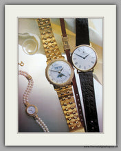 Load image into Gallery viewer, Garrard Watches Set Of 2 Original Adverts 1986 (ref AD6919)
