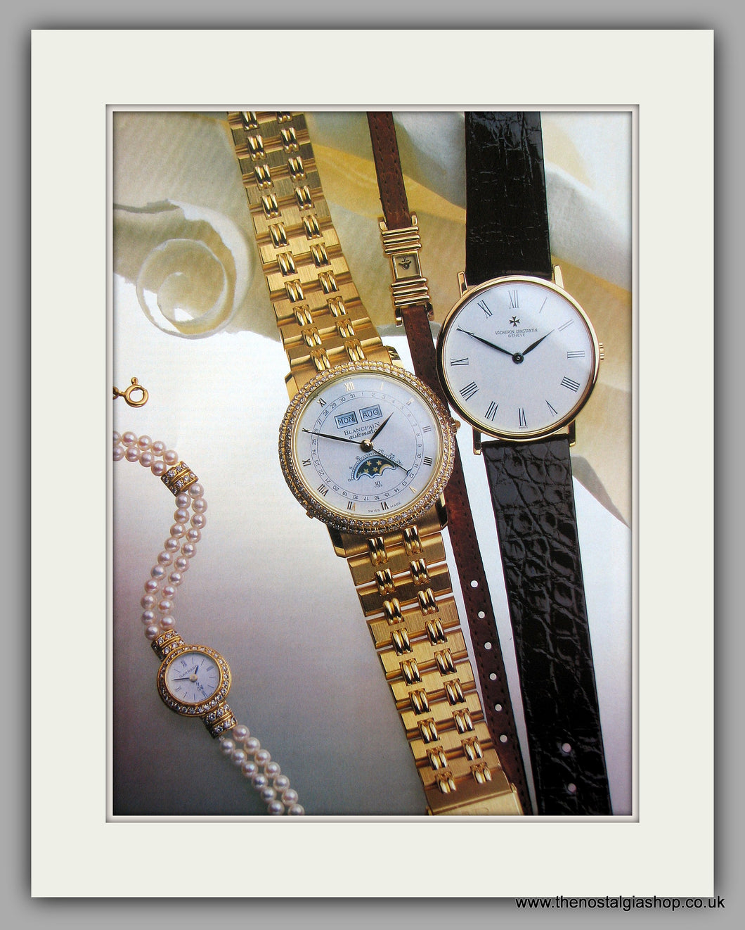Garrard Watches Set Of 2 Original Adverts 1986 (ref AD6919)