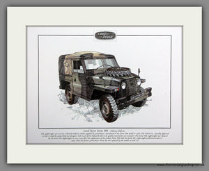 Land Rover Series IIA - Military Half Ton. Mounted Print.