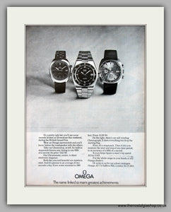 Omega Sportswatch Original Advert 1973 (ref AD6930)