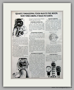 Timex Quartz Watches Original Advert 1975 (ref AD6931)