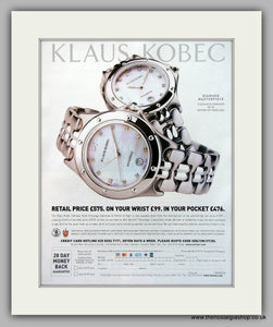 Klaus Kobec Stainless Steel Watches Original Advert 1981 (ref AD6936)