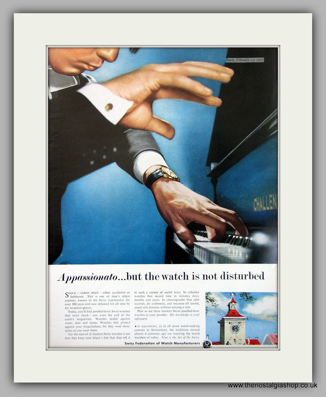 Swiss Watches Federation Of Watch Manufacturers Set Of 2 Original Adverts 1957 (ref AD6938)