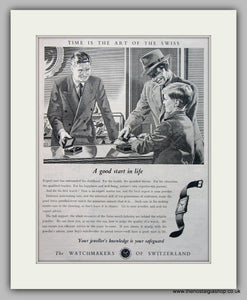Swiss Watch Original Advert 1952 (ref AD6942)