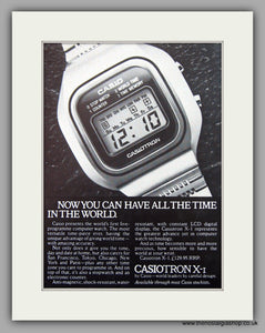 Casiotron X-1 Watches Original Advert 1977 (ref AD6945)