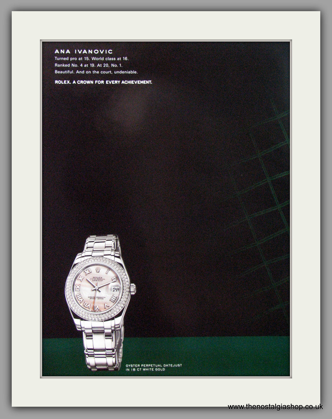 Rolex Oyster Perpetual Datejust Watch. Original Double Advert 2000 (ref AD50164)
