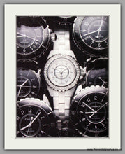 Load image into Gallery viewer, Chanel J 12 Automatic Watch. Original Double Advert 2010 (ref AD50170)
