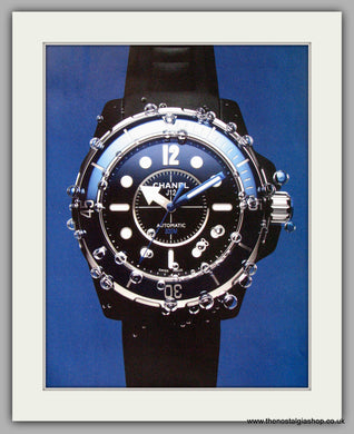 Chanel J 12 Marine Automatic Watch. Original Double Advert 2010 (ref AD50172)