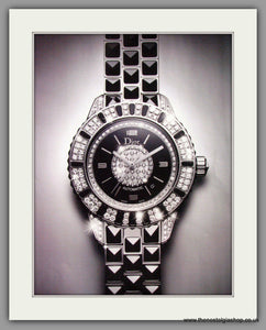 Dior Christal Automatic Watch. Original Double Advert 2010 (ref AD50173)