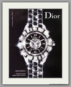 Dior Christal Automatic Watch. Original Double Advert 2009 (ref AD50174)